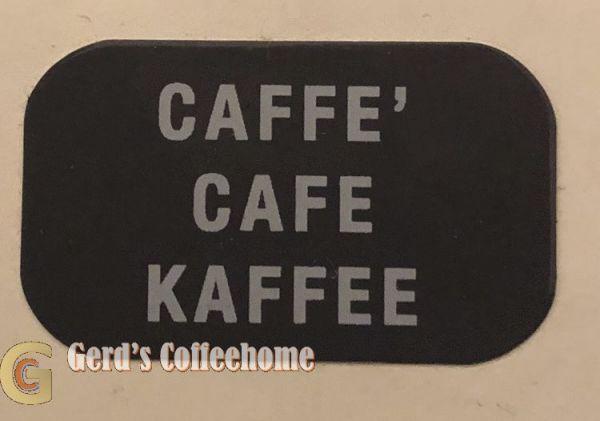 Produktetikette Kaffee