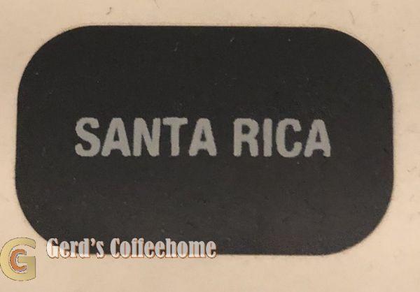 Produktetikette Santa Rica