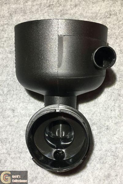 Mischschale mit Zulauf mit Steg alle Ausgänge verschlossen