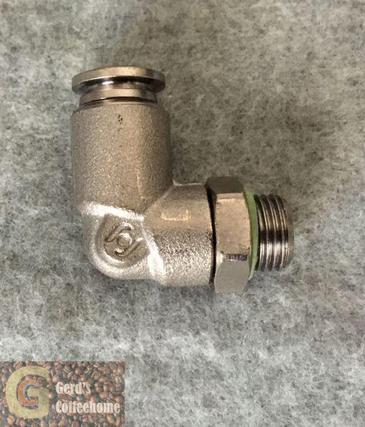 Winkelstück Drehbar 1/8 - 6 mit O-Ring