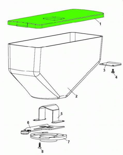 Deckel Bohnenkaffeebehälter XX V.1 (klar)